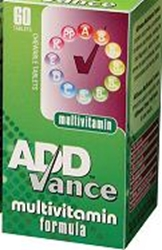 Picture of ADDvance Multivitamin chewable 60   NO STOCK