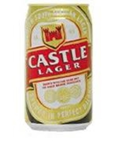 Picture of Castle Lite Beer 6 pack 340ml cans