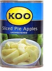 Picture of Koo Choice Grade Sliced Pie Apples 385gr