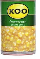Picture of Koo Cream style sweetcorn 410g