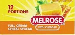 Picture of Melrose Cheddar Portions 18Gr 12ea