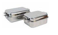 Picture of Stainless Steel Double roasting pan +/- 400mm x 300mm x 150mm LARGE