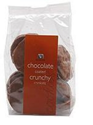 Picture of Woolworths Chocolate Coated Crunchy Cookies 200g